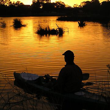 sunrise paddle on Canning River at Shelley by nickpage
