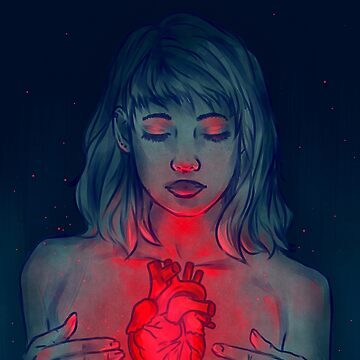 Glowing Heart- Digital Drawing by Ivegotartitude