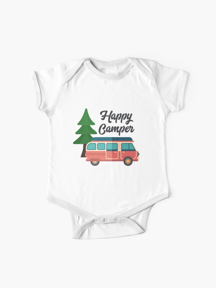 Kids Happy Camper Funny Pullover 100/% Cotton Hoodie Sweatshirts White