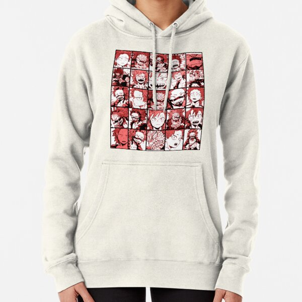 BNHA Kirishima collage - color version Pullover Hoodie