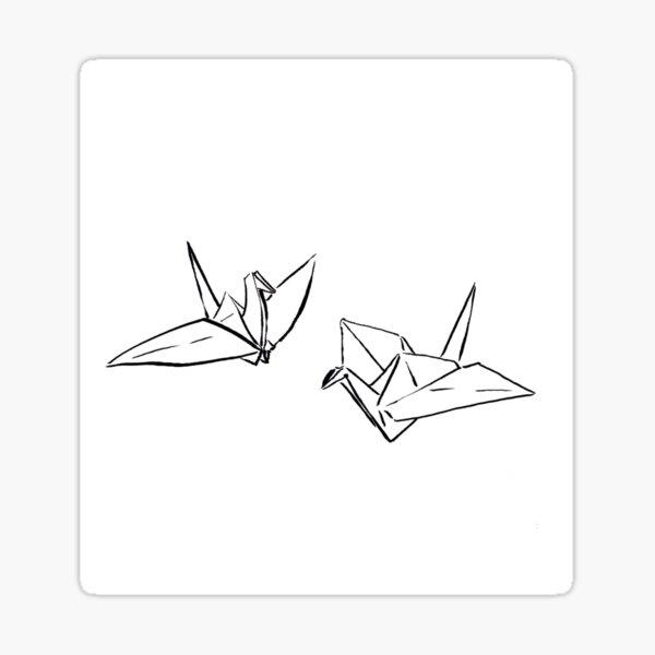 Origami Thousand Wishing Cranes  Sticker