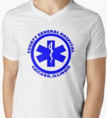 County General Hospital ER Men's V-Neck T-Shirt