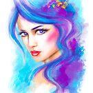 woman fantasy beautiful portrait  by Alena Lazareva