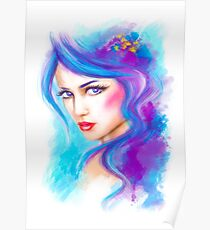 woman fantasy beautiful portrait  Poster