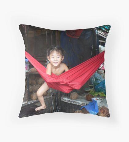 Russian Market, Phnom Penh, Cambodia Throw Pillow