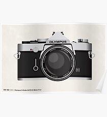 Olympus OM1 35mm slr Poster