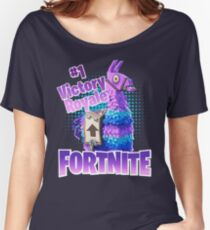 Fortnite Victory Royale Lucky Llama Women's Relaxed Fit T-Shirt