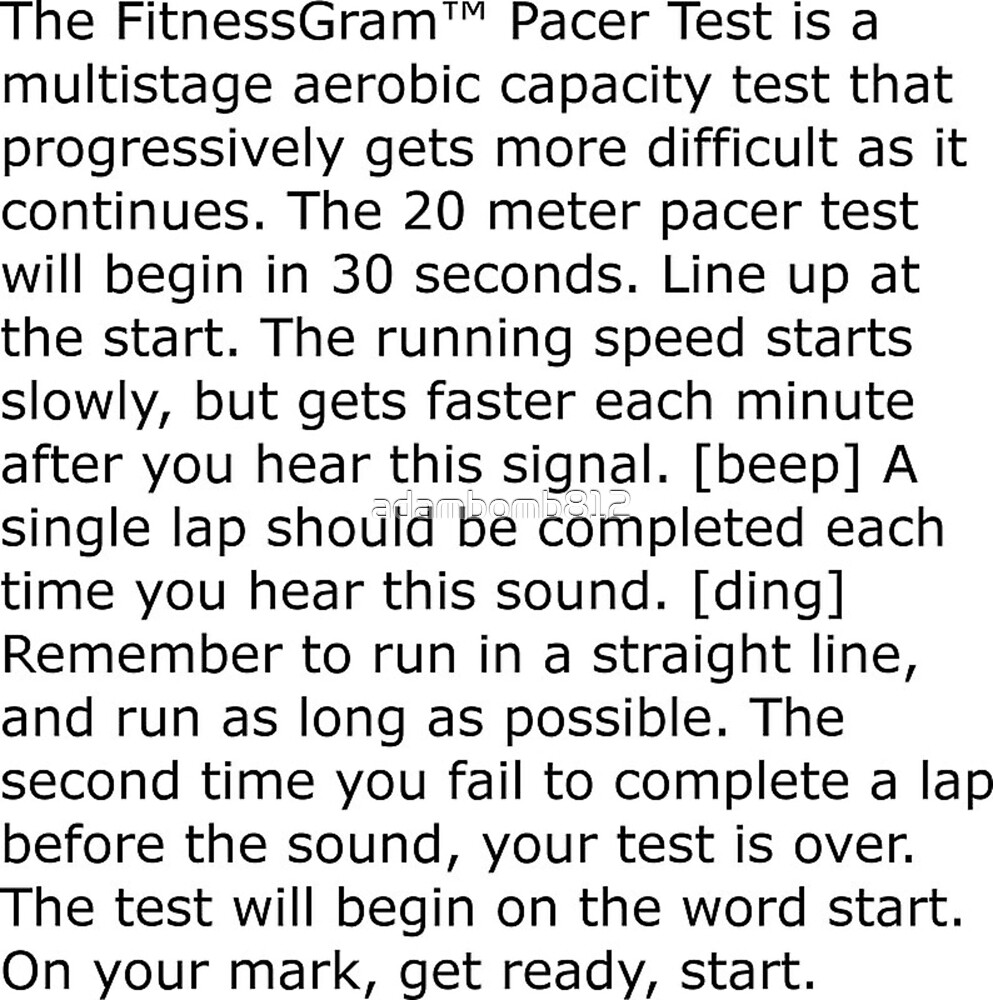 By Photo Congress || Fitnessgram Pacer Test Words