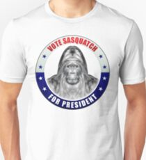 Sasquatch For President Slim Fit T-Shirt