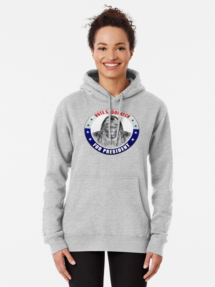 Alternate view of Sasquatch For President Pullover Hoodie