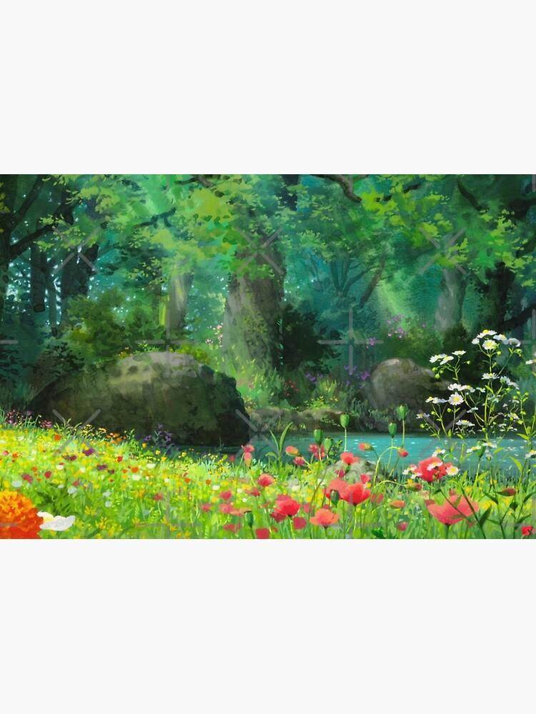 Studio Ghibli Anime Landschaft von pompomcherryy