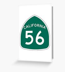 California State Route 56 Greeting Card