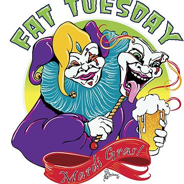Fat Tuesday Graphic Mardi Gras Party T-Shirt by LOrnamentalArt