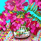 Freesias by marlene veronique holdsworth