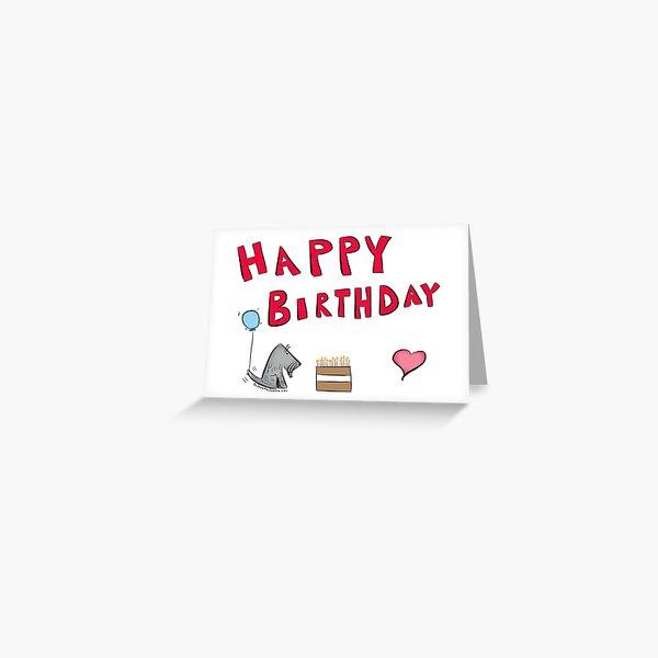 Jack - Happy Birthday - Cake Greeting Card