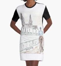 Jockey on Horse, Watercolor, Kentucky Derby, Louisville, KY, Southern Graphic T-Shirt Dress