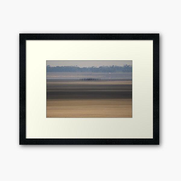 Lake Bed Framed Art Print