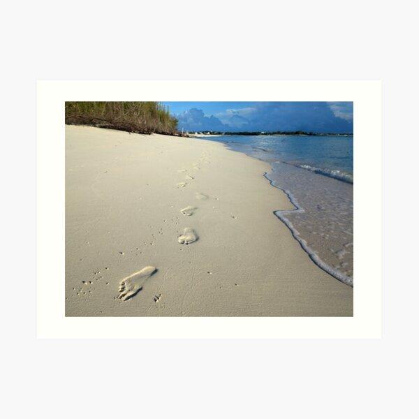 Sunrise Footprints  Art Print