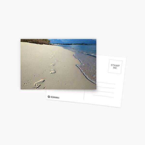 Sunrise Footprints  Postcard