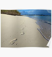 Sunrise Footprints  Poster