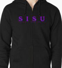 SISU - (Strenght Inside, Strength Underneath) Shirt / Back (purple) Zipped Hoodie