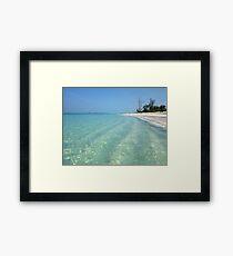 Waves of Sand - Bita Bay  Framed Print