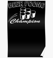 Beer Pong Champion Mens Womens Hoodie / T-Shirt Poster
