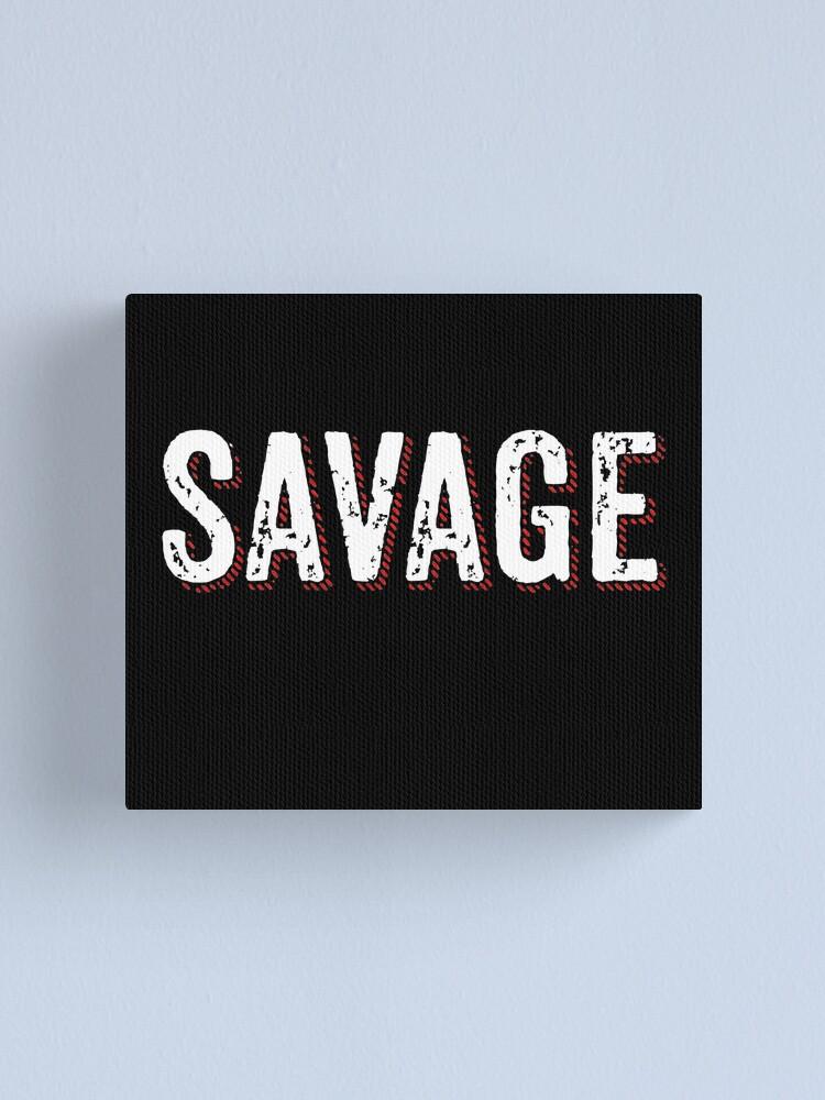 Alternate view of Savage Distressed Hip Hop Print Canvas Print