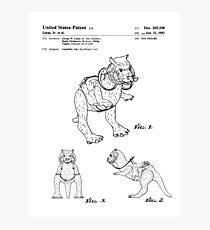 Star Wars Tauntauns Patent Black Photographic Print