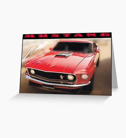 Mustang © Black Border  Greeting Card