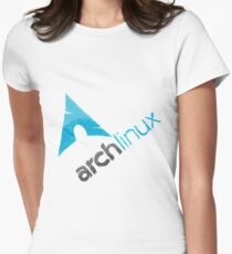 Arch Linux Logo Women's Fitted T-Shirt