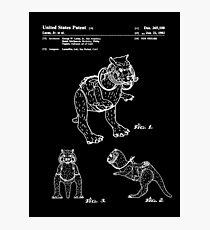 Star Wars Tauntauns Patent White Photographic Print