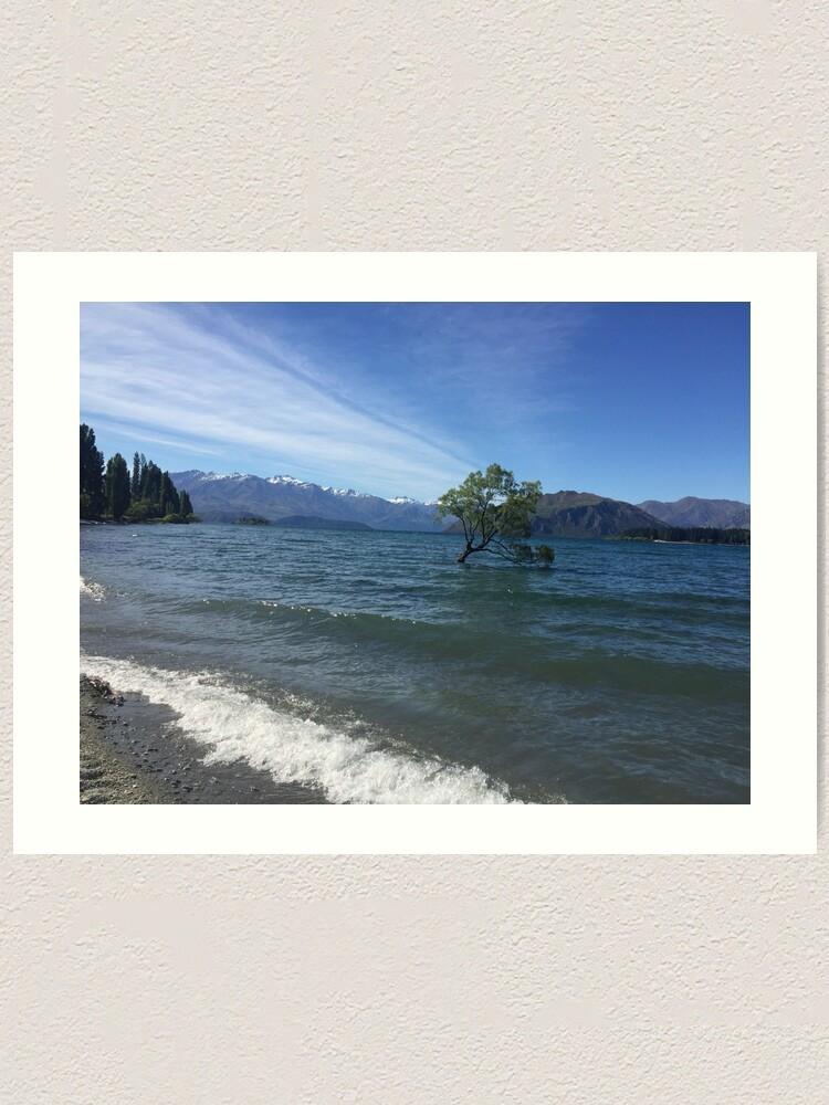Alternate view of That Wanaka Tree New Zealand Nature Photography Art Print