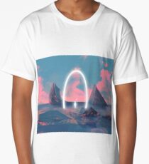 When Time And Space are Through Long T-Shirt