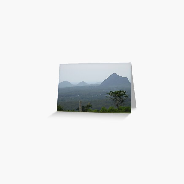 GLASS HOUSE MOUNTAINS QLD Greeting Card
