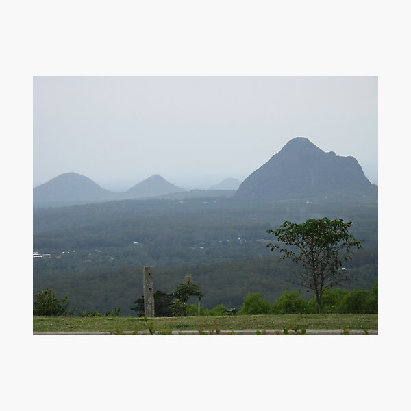 GLASS HOUSE MOUNTAINS QLD Photographic Print