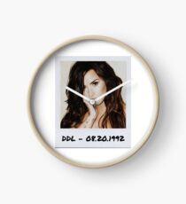 Demi Lovato Polaroid Edit Clock