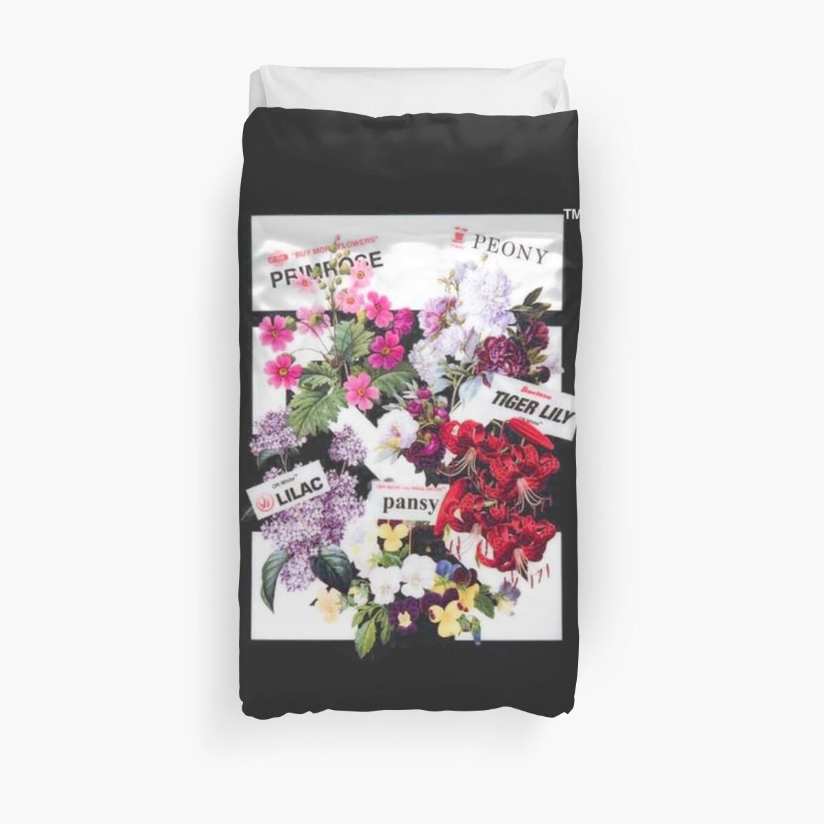Off White Flower Shop Arrows Duvet Covers By Optixal Redbubble