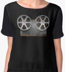 Recording Engineer Vintage Analog Reel Tape Recorder Chiffon Top