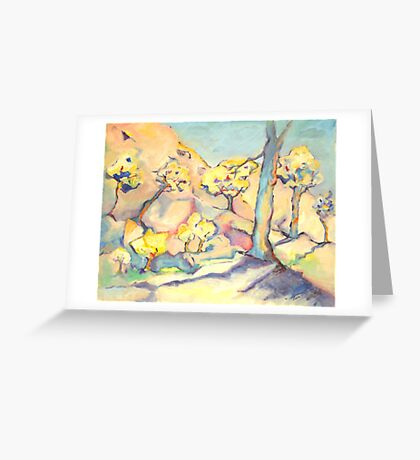 Blue and his Yellow Friends. Greeting Card