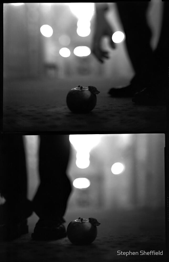 apple diptych by Stephen Sheffield