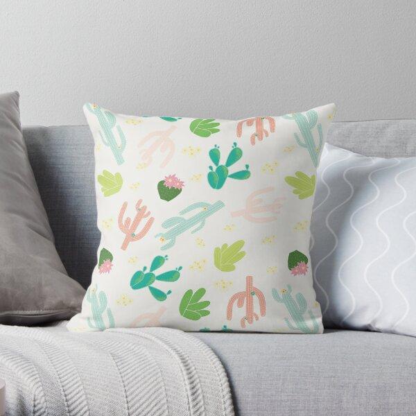 Cactus Ranch Throw Pillow