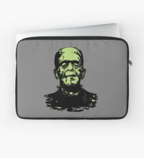 Retro Frankenstein Monster- Lime Green Laptop Sleeve