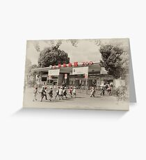 Ueno Park Zoo Entrance Greeting Card