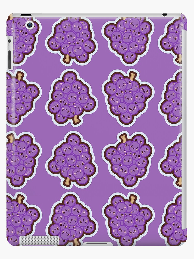 Kawaii Grape Cute Pattern Wallpaper Ipad Cases Skins By
