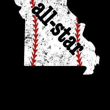 All Star Baseball Tee Missouri Youth Baseball Softball by shoppzee