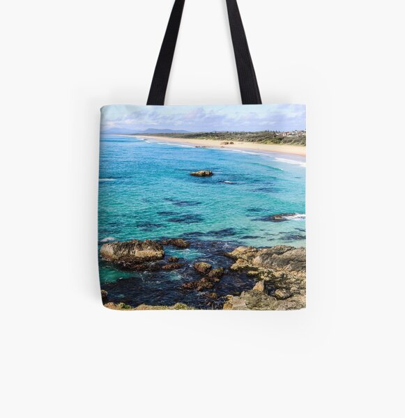 Lighthouse Beach All Over Print Tote Bag