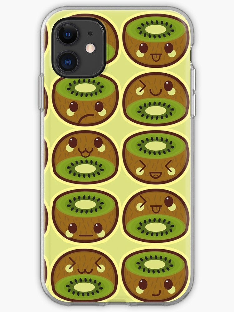Kawaii Kiwi Cute Pattern Wallpaper Iphone Case Cover By Susurrationstud Redbubble