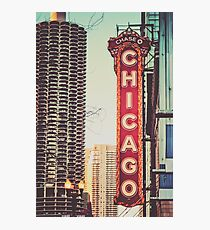 Vintage Chicago Theatre Sign Photographic Print