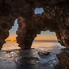 SUNRISE IN THE CAVE OF THE ARCHES by Ralph Goldsmith